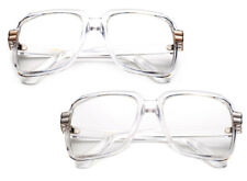 Womens Mens Square Geek Nerdy Unisex Fashion Clear Lens Glasses UV400 Protection