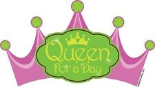 QUEEN FOR A DAY! DECOPAC EDIBLE IMAGE DECORATING CAKE TOPPER! FREE SHIPPING!
