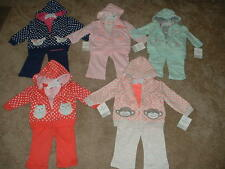 NEW Baby Girls Carters Clothes 3pc Outfit Size NB 6 9 12 Months mos U-Pick 1 NWT