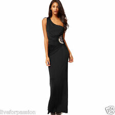 New Arrival! Sexy One-Shoulder Evening Party Formal Wedding Maxi Long Dress-B11
