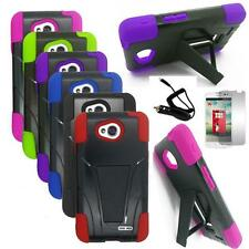 Phone Case For LG Optimus L90 Rugged Hard Cover Stand Car Charger Film
