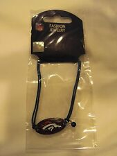 "NFL Football Teams Plate Logo 7"" String Bracelet with Team Color Bead Free Ship"