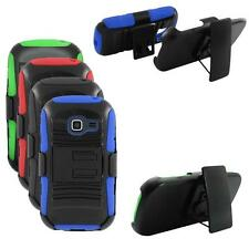 Phone Case For Samsung Galaxy Centura Silicone Cover wStand + Holster Belt Clip