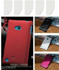 5X LCD Film Screen Protector + Hard Plastic Shell Cover Case For Nokia Lumia 720