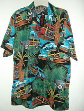 NWT WOODIE WAGONS, SURFBOARDS & FAN PALMS  HAWAIIAN SHIRT sz S M or  L
