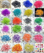 Kid's Gift 300pcs Bands Loom Rubber Band Bracelet +25PCS S CLIPS+1HOOK+1 charm