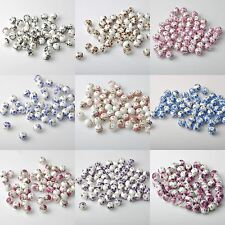 20PCs Flower Pattern Round Charms Ceramic DIY Porcelain Loose Spacer Beads 10mm