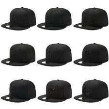 NEW ERA CAP 59FIFTY BASIC BLACK ON BLACK MLB NBA FULL CAPS KAPPE MÜTZE