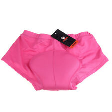 Women Cycling Underwear Pants Silica Gel 3D Pad Padded Bike Bicycle Short Rose