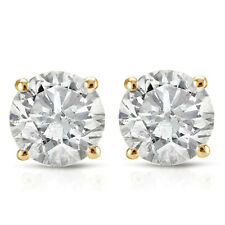 .65CT Round Brilliant Cut Natural Diamond Stud Earrings In 14K Gold