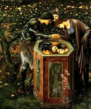 THE BALEFUL HEAD PERSEUS SHOWS ANDROMEDA MEDUSA PAINTING BY BURNE JONES REPRO