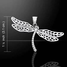 Fabulous Dragonfly Silver Pendant - Cast in .925 sterling silver