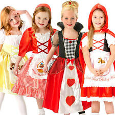 Fairytale Story Girls Fancy Dress Book Week Movie Childrens Kids Costumes Outfit