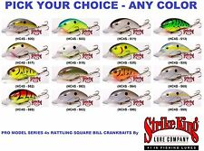 Strike King Crankbaits Pro Model Series 4S -Rattling Square Bill Lure -Any Color