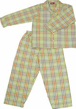 PYJAMA SUIT 100% COTTON  AMERICAN GREEN CHECKS 6-7 YR