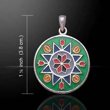 Flower Prosperity Sterling Silver Pendant - Be Inspired !!!