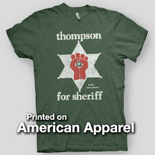 HUNTER S THOMPSON SHERIFF Fear Loathing GONZO American Apparel T-Shirt