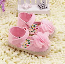Pretty Girl Toddler Pink Crib Shoes Baby Shoes Size 0-6-12-18 Mth