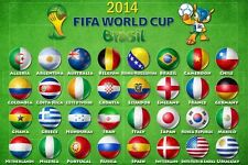 2x3 FLAG SOCCER WORLD CUP COUNTRY TEAMS BRAZIL OUTDOOR BANNER YOU PICK NEW 2'X3'