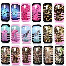 Phone Case For Motorola Moto G Tri-Layered Design Rib Cover XT1032 XT1034 XT1036