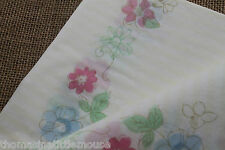 Meri Meri Blue & white Stripe paper tablecloth *  floral tea party tablecover