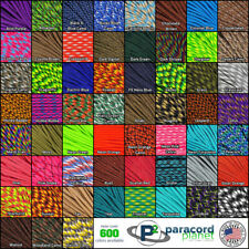 550 Paracord Mil Spec Type III 7 strand cord Solid Pattern Camo 25, 50, 100 feet