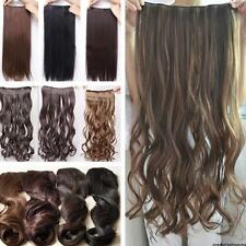 Fashion 5 Clips Long Straight/Curly/Wavy Clip in Hair Extension Hair Women 2014