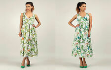 Kushi Anmol tropical bird print cotton midi to maxi dress sizes 10 to 18