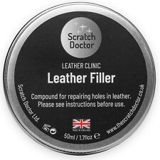 Leather Repair Filler Compound VARIOUS Colours. Restore Cracks, Holes etc.