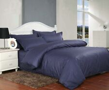 Dark Blue Soft 100% COTTON AUS Quilt Cover or Sheet Set, Flat,Fitted,Pillowcases