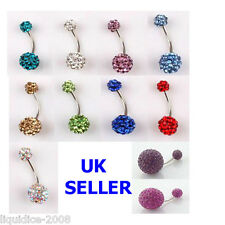 DISCO BALL CRYSTAL BODY PIERCING NAVAL BELLY MULTI COLOURED JEWELLERY 04 mm, 16g