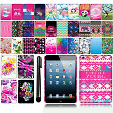 For Apple iPad mini Art Design Image PATTERN HARD Case Back Phone Cover + Pen