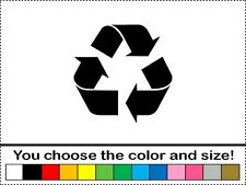 Recycle Logo Vinyl Decal Car Window Sticker Renew and Reuse Bin Recycling