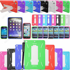 FOR VARIOUS MOBILE/TABLETS HEAVY DUTY BUILDERS SHOCK PROOF KICK STAND CASE COVER