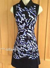 KAREN MILLEN BLUE BLACK FEATHER PRINT DRESS BNWT UK 8, 10, 12, 16