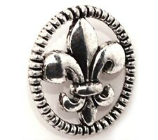 10-100 Pcs Tibetan Silver Crafts Oval fleur-de-lis Findings Buttons 17*15mm