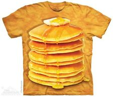 THE MOUNTAIN BIG STACK PANCAKES SYRUP GOOD FOOD HUNGRY YUMMY T TEE SHIRT S-5XL