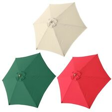 9FT 6 Rib Umbrella Replacement Canopy Cover Top Patio Outdoor Yard Color Option