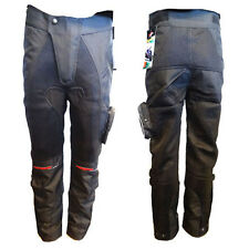 MENS ARMORED MOTORCYCLE PANTS TEXTILE BLACK W/ KNEE PROTECTOR  SIZE 30 32 33 34