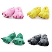 T117 Unisex Soft Non Slip Home Shoes Cute Dinosaur Claws Indoor Slippers