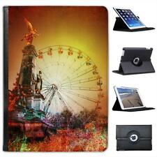 Ferris Wheel In Bright Coloured Fair Folio Wallet Leather Case For iPad Air