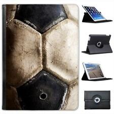 Used Vintage Black & White Football Folio Wallet Leather Case For iPad Air