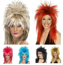 Ladies Two Tone or Sparkle Rock Diva Mullet Wigs