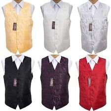 """Men's Jacquard Passion Special Occasion Wedding Groom Waistcoat - Size 36"""" - 50"""""""