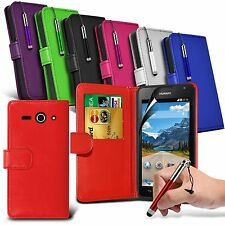 Pu Leather Wallet Case, Retractable Pen  & Film Fits Various Mobile Phones