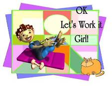 Custom Made T Shirt Let's Work It Girl Chubby Lady Exercise Funny Cat Woman