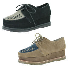 Very Volatile Detour Women's Lace-Up Flatform Creepers Shoes