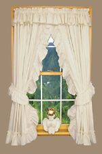 Wendy Ruffled Priscilla Country Curtains with Valance Victorian Shabby Cabin