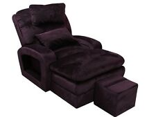 2pc Purple Fabric Sectional Room Reclining Sofa Chair Cushion Home Furniture Set