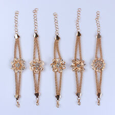 Brilliant Classic Gold Filled Flower Women Fashion Bracelet Chain Party Gift